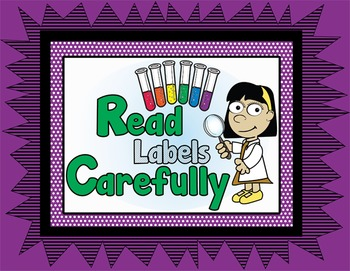Science Lab Safety Guidelines - Poster and Printables