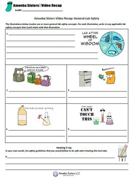 Lab Safety Handout by The Amoeba Sisters- Free Student Handout