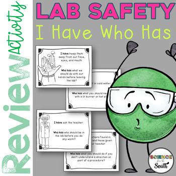 Lab Safety I Have Who Has Review for Your Middle and High School Students
