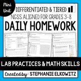 Lab Safety, Lab Tools and Lab Skills Homework