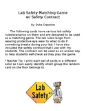 Lab Safety Matching Game w/ Safety Contract