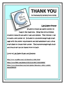 Lab Safety Mini Poster