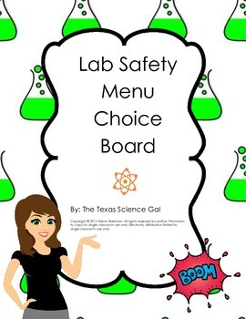 Lab Safety Menu Board