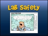 Lab Safety Package - Powerpoint, Contract Handout, Quiz, Card Game