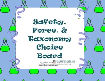 Bundle-Lab Safety, Physics, Biology Choice Boards