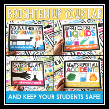 Lab Safety Posters - Bulletin Board Classroom Posters