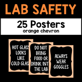 Science Lab Safety Posters - Orange Chevron