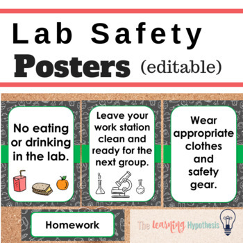 Laboratory Safety Poster & Worksheets | Teachers Pay Teachers
