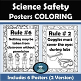 Lab Safety Posters for Science Classes (Coloring Pages) wi