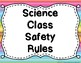 Lab Safety Posters in Color and Black and White