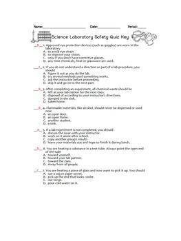 Lab Safety Quiz