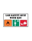 Science Lab Safety Quiz (with key) EDITABLE