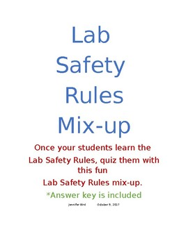 Lab Safety Rules Mix-up