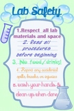 Lab Safety Rules Poster