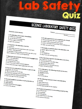 Lab Safety Rules Quiz