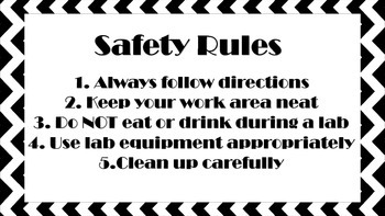 Lab Safety Rules & Roles