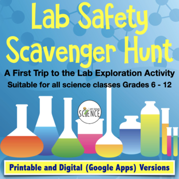Lab Safety Activity for First Visit to the Lab | Printable and Digital