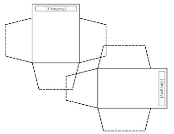 Sort and Place in Envelopes template for interactive notebook