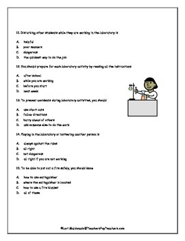 Lab Safety: Science Safety Quiz