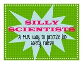 "Lab Safety - ""Silly Scientists"" Practice Activity"