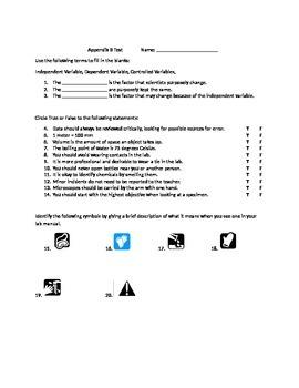 Lab Safety Skills Test