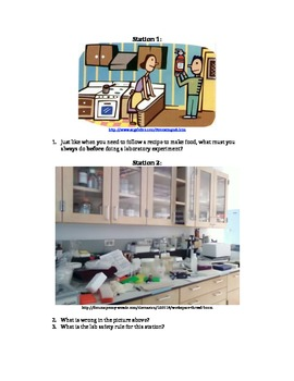 Lab Safety Stations Activity