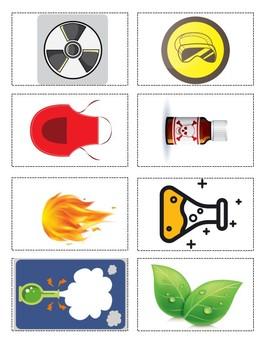 Lab Safety Symbols Card Sort/Game