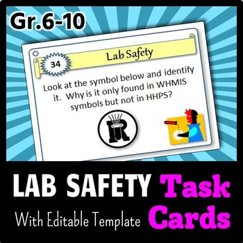 Lab Safety - Task Cards {With Editable Template}