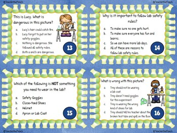 Lab Safety Task Cards  **EDITABLE**