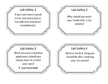 Lab Safety Task Cards