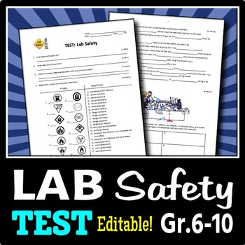 Lab Safety Test Editable