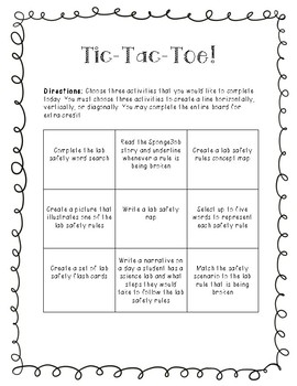 Lab Safety Tic Tac Toe