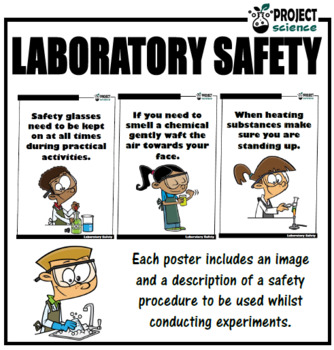 Lab Safety Wall Posters