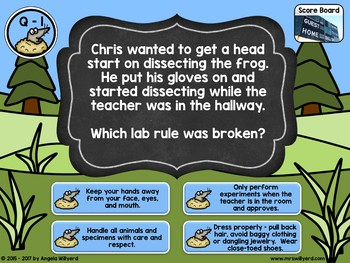 Lab Safety Whack-a-Mole Interactive Review Game - PowerPoint