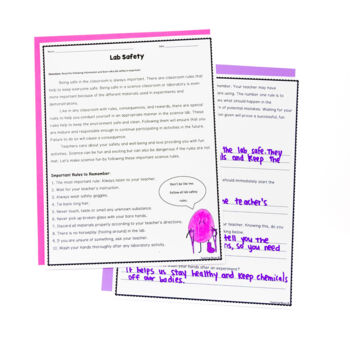 Lab Safety Nonfiction Reading Activities and Project