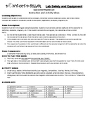 Lab Safety and Equipment Game Puzzle with Worksheet