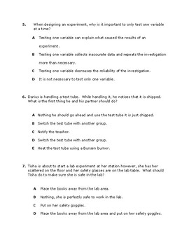 Lab Safety and Procedures Exam