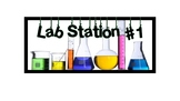 Lab Station Signs