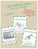 Lab Station Signs with Fun Science Facts
