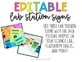 Lab Station Signs [Editable]