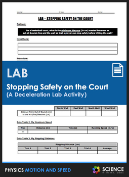 Lab - Stopping Safety on the Court (A Deceleration Lab Activity)