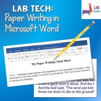 Lab Tech: Paper Formatting in Microsoft Word
