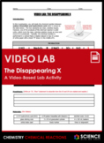 Lab - The Disappearing X Rates of Reaction Activity (Virtual Lab)
