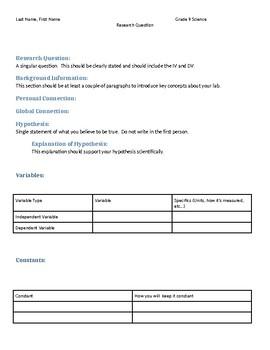 Lab Write-Up Format