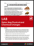 Lab - Ziploc Bag Physical and Chemical Changes