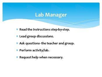 Lab and Activity Roles