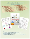 Lab and Safety Equipment- 2 Activities plus Quiz