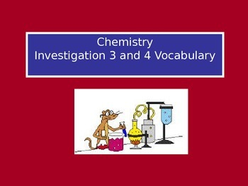 Chemistry, Matter, Interactions: LabLearner Investigations 3-4