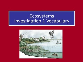Ecosystems: LabLearner Investigation 1