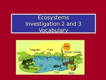 Ecosystems: LabLearner Investigations 2-3